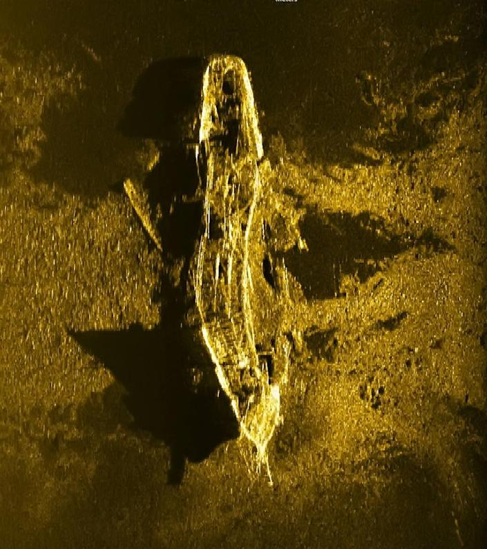An iron or steel-hulled shipwreck was spotted some 3,700m below the surface and is believed to have gone down at the turn of the 19th century (AFP Photo/-)