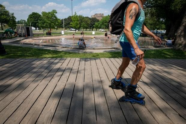 A high temperature of 31 C is expected on Sunday, with humidex values that will make it feel like between 36 and 40. The low temperature on Sunday night is forecast to be 19 C. (Evan Mitsui/CBC - image credit)