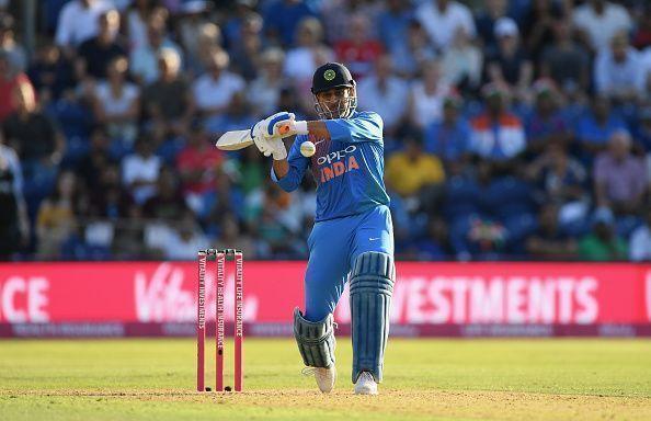 MS Dhoni has played 10 ODIs for India at the No.4 position since July 2015