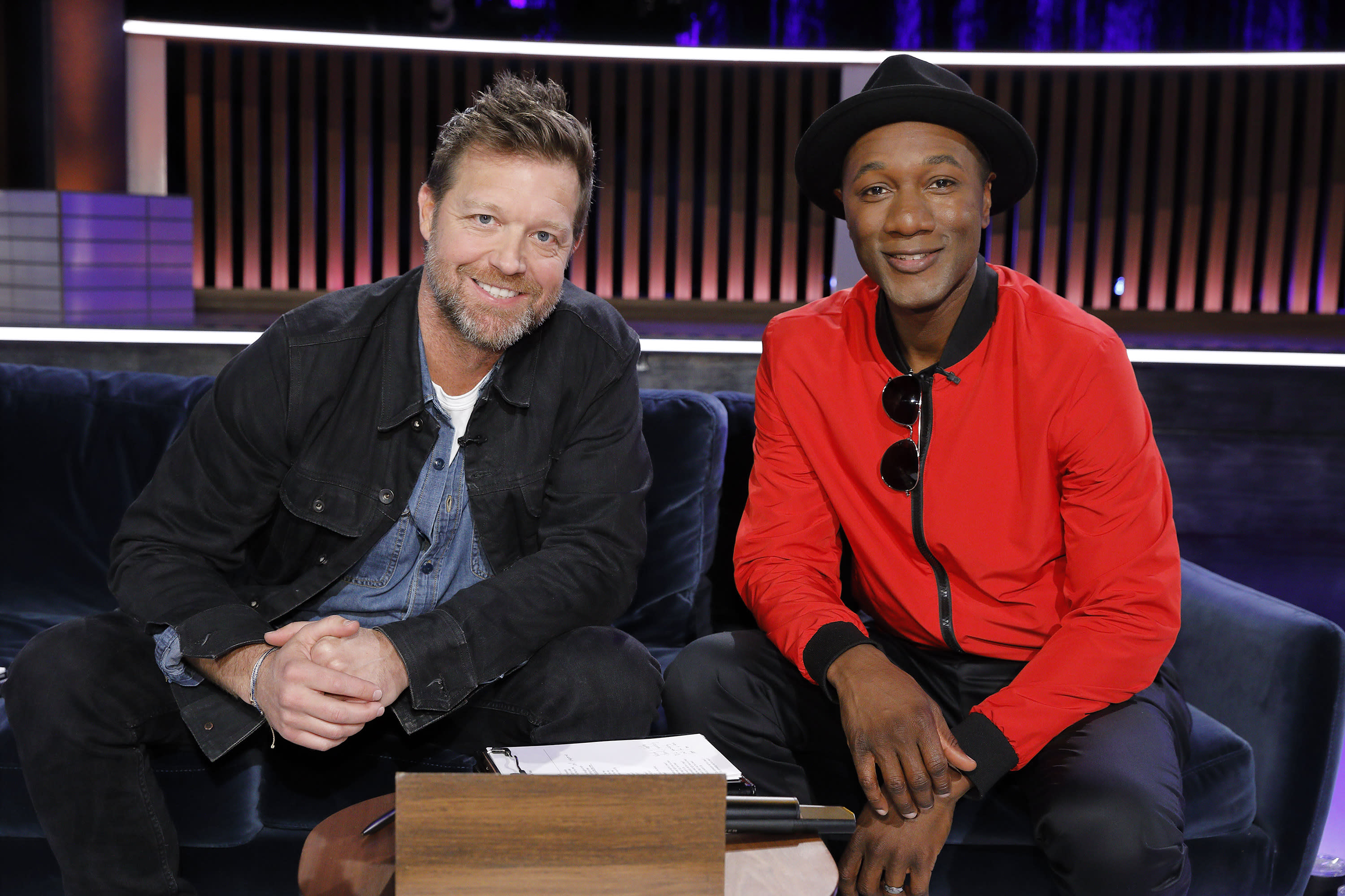 David Leitch, director of 'Fast & Furious Presents: Hobbs & Shaw,' and Aloe Blacc on 'Songland.' (Photo: Trae Patton/NBC/NBCU Photo Bank)