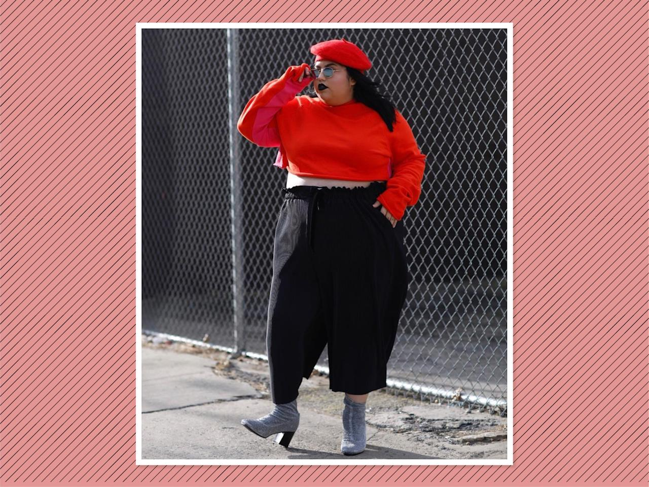 "<p>A pair of basic black cropped pliseé pants — like <a rel=""nofollow"" href=""https://premme.us/collections/bottoms/products/straight-leg-paperbag-waist-pant"">these from Premme</a>, $72 — are supercomfortable, and they go with just about everything… especially a red crop top and beret combo. (Photo: <a rel=""nofollow"" href=""https://www.instagram.com/p/BdwSkAgludK/?hl=en&taken-by=thisisjessicatorres"">Jessica Torres</a> via Instagram) </p>"