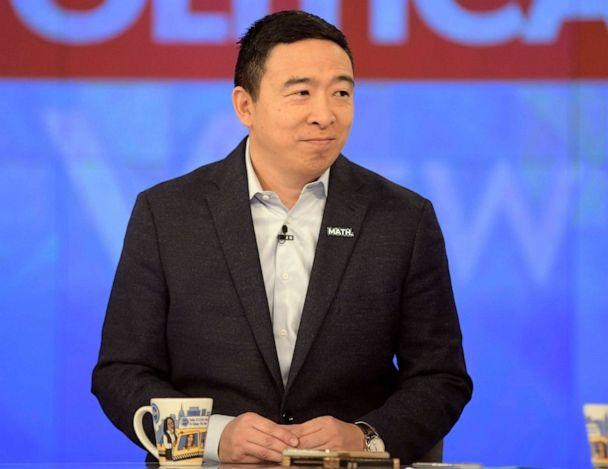 PHOTO: Democratic presidential candidate Andrew Yang appears on ABC's 'The View,' Jan. 8, 2020. (Paula Lobo/ABC)
