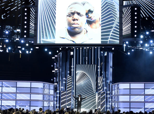 """<p>Sean """"Diddy"""" Combs presents a tribute to Biggie Smalls at the Billboard Music Awards at the T-Mobile Arena on Sunday, May 21, 2017, in Las Vegas. (Photo by Chris Pizzello/Invision/AP) </p>"""