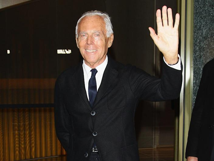 "Armani at the opening party for Armani Hotel Milano in November 2011. <p class=""copyright"">Getty Images</p>"