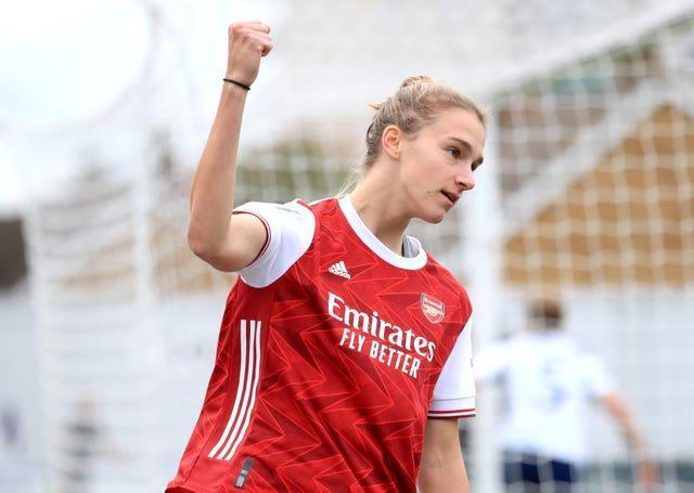 Arsenal's Vivianne Miedema (pictured) leads this season's WSL scoring charts alongside Chelsea's Sam Kerr, and is the division's all-time top scorer (Adam Davy/PA).