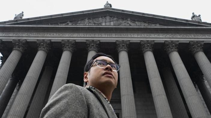 """ACLU attorney Dale Ho at the Supreme Court, where he successfully argued against a citizenship question on the U.S. census. <span class=""""copyright"""">(Magnolia Pictures)</span>"""