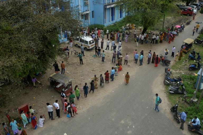 There are long queues to get vaccinated in parts of India