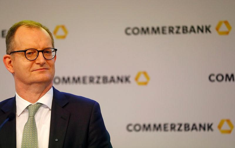 FILE PHOTO: Martin Zielke, CEO of Germany's Commerzbank addresses the media during the bank's annual news conference in Frankfurt