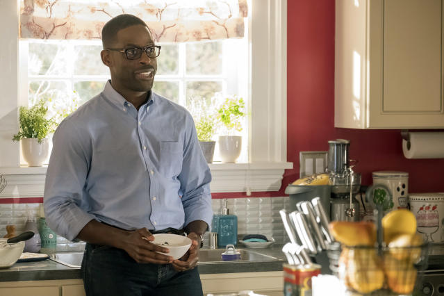 <p>Sterling K. Brown as Randall Pearson in NBC's <i>This Is Us</i>.<br>(Photo: Ron Batzdorff/NBC) </p>