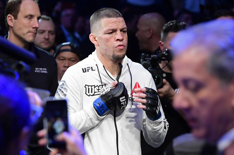 The UFC has updated its anti-doping policy so that fighters won't face discipline if situations arise similar to the one Nate Diaz faced ahead of UFC 244. (Photo by Steven Ryan/Getty Images)
