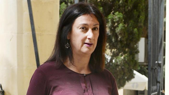 Maltese journalist and blogger Daphne Caruana Galizia was killed on Oct. 16, 2017, by a car bomb near her home in Bidnija. (Matthew Mirabelli/AFP via Getty Images)
