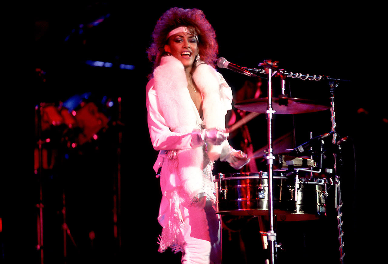 """<p>The fierce, sexy Sheila Escovedo (better know as Sheila E.) was Prince's drummer — and lover. Escovedo <a href=""""http://www.nydailynews.com/entertainment/music/sheila-e-confirms-engagement-prince-new-memoir-article-1.1914774"""">confirmed in her 2014 memoir</a>,<i>The Beat of My Own Drum,</i> that the two of them were engaged at one point. She wrote that it was """"somewhere in the middle of Europe"""" in 1987 when Prince spun around halfway into """"Purple Rain"""" and mouthed to his drummer, """"Marry Me?"""" She said yes. """"He blew me a kiss, turned to the audience, and took the most amazing guitar solo ever,"""" she wrote.</p><p><i>(Photo: Getty Images)</i></p>"""