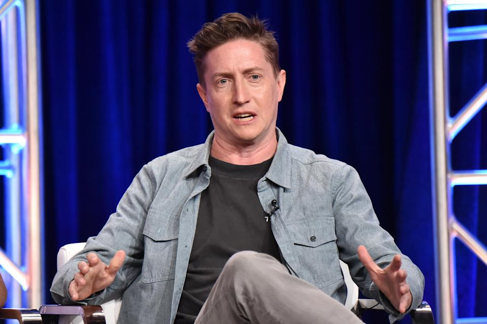 BEVERLY HILLS, CALIFORNIA - JULY 24: David Gordon Green of 'The Righteous Gemstones' speaks onstage during the HBO Summer TCA Panels on July 24, 2019 in Beverly Hills, California. (Photo by Jeff Kravitz/FilmMagic for HBO)