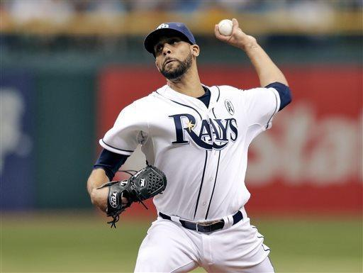 Tampa Bay Rays starting pitcher David Price delivers to the Baltimore Orioles during the first inning of an opening day baseball game Tuesday, April 2, 2013, in St. Petersburg, Fla. (AP Photo/Chris O'Meara)