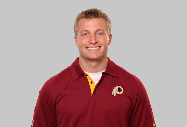 This is a 2012 photo of Sean McVay of the Washington Redskins NFL football team. This image reflects the Washington Redskins active roster as of Monday, June 11, 2012 when this image was taken. (AP Photo)