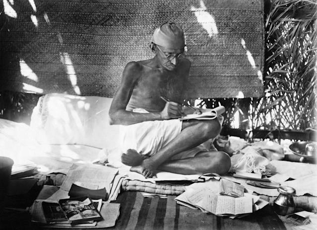 Indian Nationalist Leader Mahatma Gandhi (Photo by © Hulton-Deutsch Collection/CORBIS/Corbis via Getty Images)
