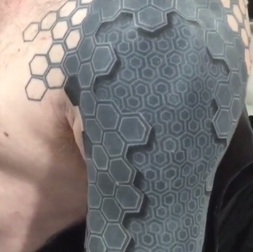 The Guy With The 3d Robot Tattoo Futuristic Body Art