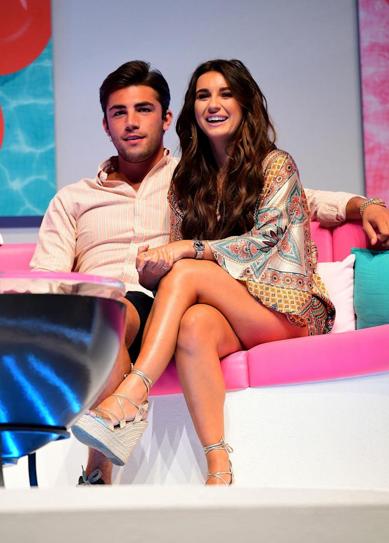Troubled: Dani Dyer and Jack Fincham have been plagued by split reports (PA)