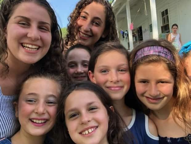 Jessica Pink and her campers at Camp Kadimah in 2019.
