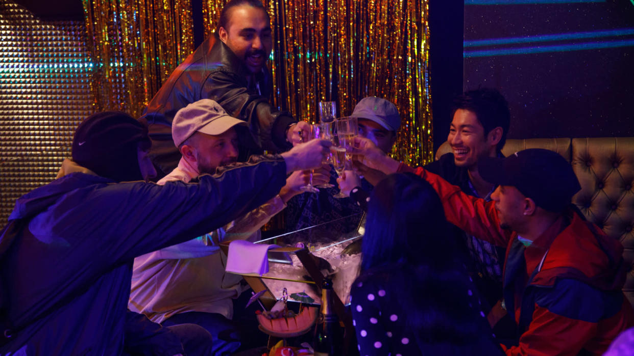 Chabuddy G, MC Grindah and the rest of the Kurupt FM gang head to Japan as 'People Just Do Nothing' comes to the big screen. (Universal)