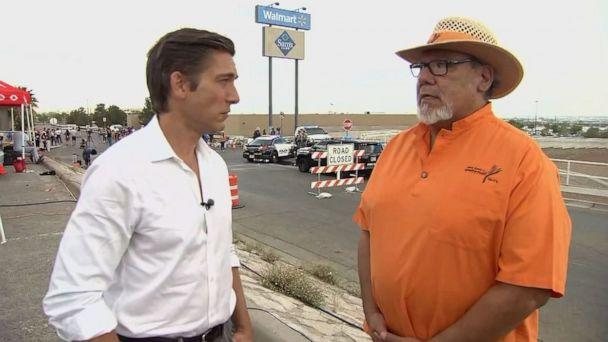 PHOTO: Angel Gomez of Operation HOPE told David Muir that he'd reached funeral directors in El Paso, Texas, and they'd agreed to cover the victims' funerals at no cost to the families. (ABC News)