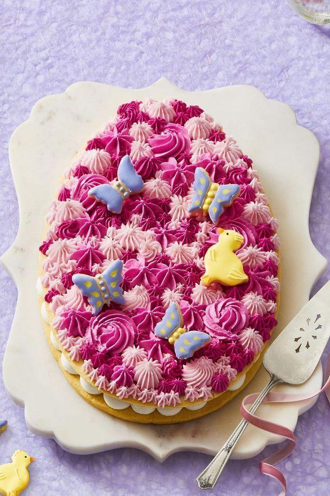 """<p>The only thing more fun than a regular cookie? A giant cookie. This one happens to be a giant cookie sandwich, and you can pipe the top with your favorite Easter colors and motifs. </p><p><strong><em><a href=""""https://www.womansday.com/food-recipes/a31980238/easter-egg-cookie-recipe/"""" rel=""""nofollow noopener"""" target=""""_blank"""" data-ylk=""""slk:Get the Easter Egg Cookie recipe."""" class=""""link rapid-noclick-resp"""">Get the Easter Egg Cookie recipe. </a></em></strong></p>"""