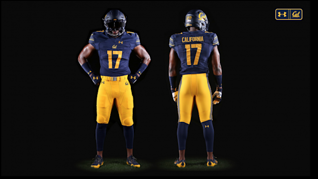 The striping on the sleeves of the jerseys looks great. (Via Cal athletics)