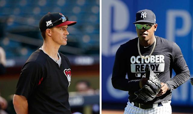 A couple of wild-card game starters: Zack Greinke of the Diamondbacks and Luis Severino of the Yankees. (AP)