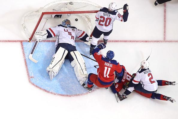 TORONTO, ON - SEPTEMBER 22: Ben Bishop #30 of Team USA is beaten on a goal resulting from a goalmouth scramble by Milan Michalek #9 of Team Czech Republic during the World Cup of Hockey tournament at the Air Canada Centre on September 22, 2016 in Toronto, Canada. (Photo by Tom Szczerbowski/Getty Images)