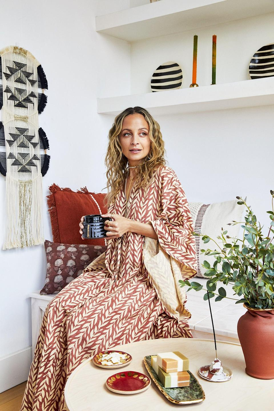 """<p>Since 2008, <strong>Nicole Richie</strong>'s lifestyle brand, <a href=""""https://houseofharlow1960.com/"""" rel=""""nofollow noopener"""" target=""""_blank"""" data-ylk=""""slk:House of Harlow 1960"""" class=""""link rapid-noclick-resp"""">House of Harlow 1960</a>, has given fans a taste of her inspiring free-spirited fashion sense. The line, which includes everything from clothing to jewelry, showcases her affinity for vintage finds layered with the California-cool aesthetic she's known for. But now Nicole, who also happens to be <a href=""""https://www.goodhousekeeping.com/life/entertainment/a27043790/lionel-richie-daughter-son-kids/"""" rel=""""nofollow noopener"""" target=""""_blank"""" data-ylk=""""slk:Lionel Richie"""" class=""""link rapid-noclick-resp""""><strong>Lionel Richie</strong></a>'s oldest daughter, is targeting another set of consumers — design enthusiasts — with a special House of Harlow 1960 home decor and accessories line that's now available to shop on Etsy. <br><br>""""I'm thrilled to finally be putting the 'House' in 'House of Harlow 1960' in such a meaningful way through this dream interiors collection,"""" Nicole says. """"My home has always been an extension of my personal style and I'm so grateful for the opportunity to collaborate with such a talented, diverse group of artisans on the Etsy platform — several of whom are from my home state of California.""""<br> <br>The limited-edition collection includes ceramics, pillows, wall decor and much more — all designed by Nicole and an Etsy maker. The star's line also highlights her passion for supporting <a href=""""https://www.goodhousekeeping.com/life/a33561639/black-owned-businesses/"""" rel=""""nofollow noopener"""" target=""""_blank"""" data-ylk=""""slk:BIPOC-owned businesses"""" class=""""link rapid-noclick-resp"""">BIPOC-owned businesses</a>. Take a look below at some of our favorite items from Etsy's House of Harlow 1960 line and <a href=""""https://go.redirectingat.com?id=74968X1596630&url=https%3A%2F%2Fwww.etsy.com%2Ffeatured%2Fhouseofharlow1960%3Fslug%3Dhouseofharlow1960&sref=https%"""
