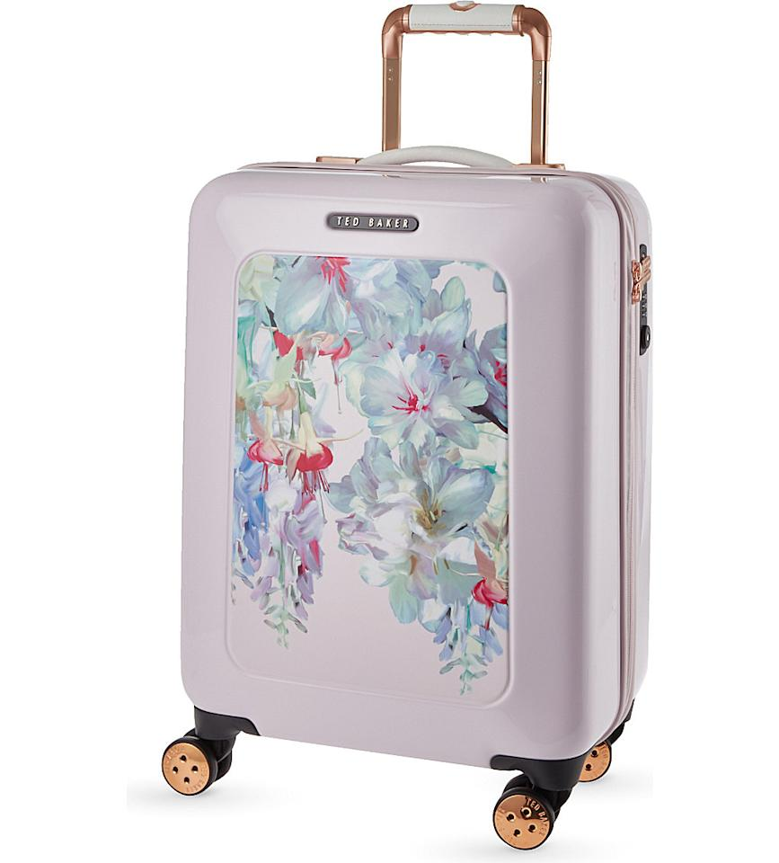 "<p>How wonderfully feminine is this case? Definitely a good one for a summer getaway. [<i><a href=""http://www.selfridges.com/GB/en/cat/ted-baker-take-flight-floral-small-cabin-suitcase-54cm_346-74051431-TBW0103-010/"">Ted Baker, £199]</a></i></p>"