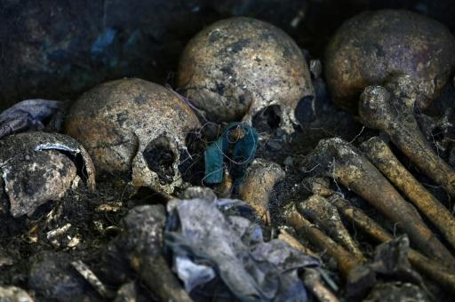 A team of international forensic experts exhumed a mass grave of victims of El Salvador's 1980-1992 civil war