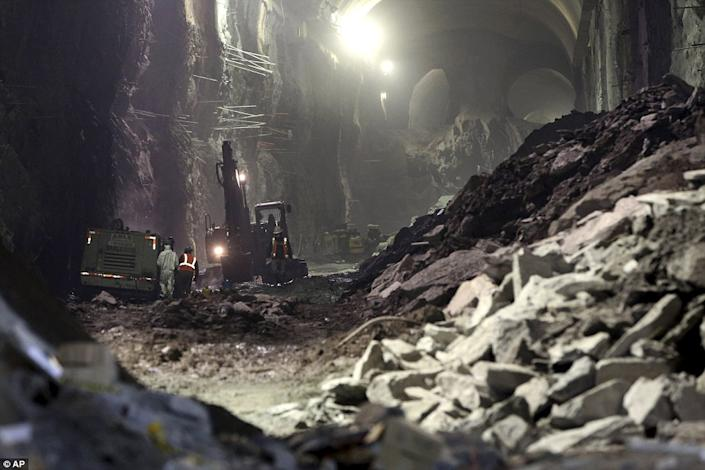 Rubble created from blasting through the bedrock is said to be able to bury Central Park in a foot of gravel. (Photo/ AP)