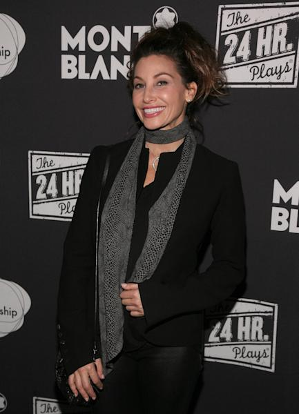 Actress Gina Gershon attends the 24 Hour Plays on Broadway after party on Monday, Nov. 18, 2013 in New York. (Photo by Andy Kropa/Invision/AP)