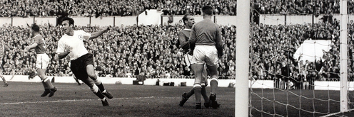"""<span class=""""caption"""">Jimmy Greaves was the most prolific goalscorer in top-flight English football.</span> <span class=""""attribution""""><span class=""""source"""">@SpursOfficial</span></span>"""