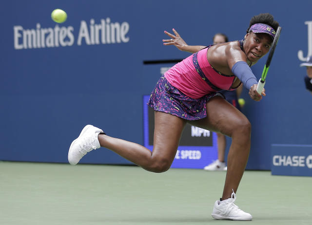 """<a class=""""link rapid-noclick-resp"""" href=""""/olympics/rio-2016/a/1121027/"""" data-ylk=""""slk:Venus Williams"""">Venus Williams</a> has never lost in the opening round of the U.S. Open. (AP Photo)"""