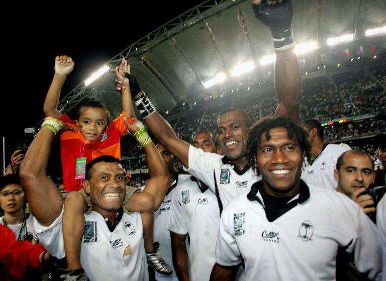 Fiji's Waisale Serevi (L) is one of the most popular players in Hong Kong Sevens history