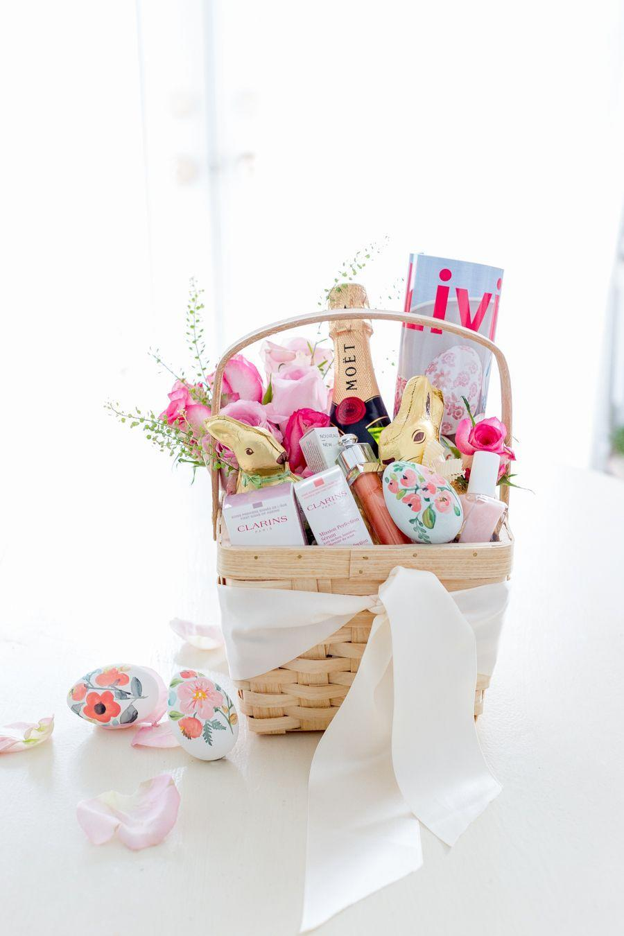 "<p>Short on time? Add a beautiful satin ribbon to a plain basket, fill with indulgences like beauty products and champagne, then fleck with some fresh flowers. </p><p>Get the tutorial at <a href=""https://www.craftberrybush.com/2017/04/grown-up-easter-basket.html"" rel=""nofollow noopener"" target=""_blank"" data-ylk=""slk:Craftberry Bush."" class=""link rapid-noclick-resp"">Craftberry Bush.</a></p><p><a class=""link rapid-noclick-resp"" href=""https://www.amazon.com/VATIN-Double-Solid-Satin-Ribbon/dp/B072P5R4N1/?tag=syn-yahoo-20&ascsubtag=%5Bartid%7C10072.g.30506642%5Bsrc%7Cyahoo-us"" rel=""nofollow noopener"" target=""_blank"" data-ylk=""slk:SHOP SATIN RIBBON"">SHOP SATIN RIBBON</a></p>"
