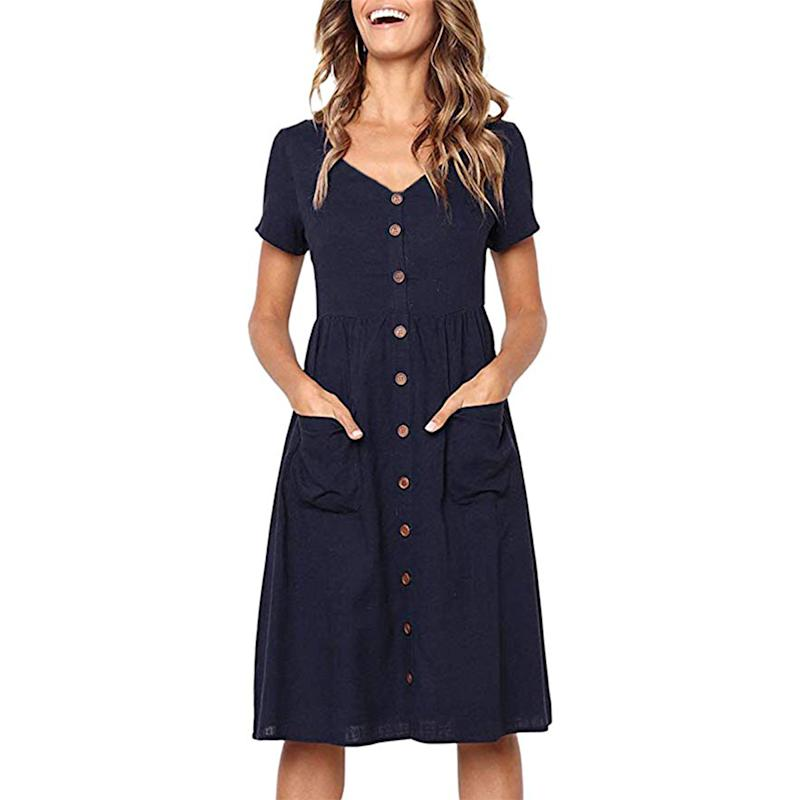This simple style features an elastic waist and comes in eight different colors. (Photo: Amazon)