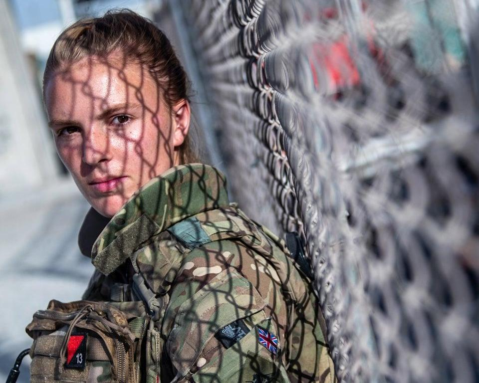 2nd Lt Molly Firth, a member of the 63 sqn of the UK Armed Forces, in Kabul (LPhot Ben Shread/MoD/PA) (PA Media)