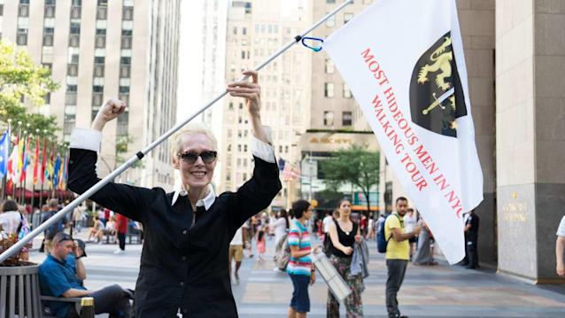 "Tasia Jensen/The Daily BeastE. Jean Carroll is considering pursuing legal action against President Trump, she has told The Daily Beast.Carroll recently hit the headlines when she claimed that Trump raped her in Bergdorf Goodman in the mid-'90s. The alleged assault occurred long before New York lifted its statute of limitations against rape, but Carroll said she is ""thinking about hiring a really smart attorney"" to pursue legal action against Trump. ""I hadn't thought about pressing charges, but now people are convincing me that it's smart,"" she told The Daily Beast. ""If I get a really smart attorney, we might be able to get around [the statute]. I'll be exploring it.""Hours after her allegations broke on June 21, Carroll appeared on The Last Word with Lawrence O'Donnell. The MSNBC host asked if Carroll planned on filing charges; she said she would not. ""I would find it disrespectful to the women who are down on the border who are being raped around the clock down there without any protection,"" Carroll explained. Carroll was speaking on Sunday after leading a group of women through the streets of New York City on her Hideous Men Walking Tour. She greeted her guests looking like a swashbuckling hero in equestrian pants, dark riding boots, carrying a white flag blazoned with her family's crest. Carroll was not there to talk chivalry—ticket-holders have come to spend their Sunday tracing the alleged misdeeds of modern day villains from Matt Lauer and Woody Allen to ""3,000 pound serial rapist"" Harvey Weinstein. Of course, many have schlepped to Bergdorf Goodman, which serves as Carroll's trailhead, after reading her book excerpt accusing Trump of assaulting her there. Carroll began the free tour by detailing the beginning of the attack—only referring to Trump violating an unnamed ""woman""—but she stopped short of recounting the full event. She then directed anyone who still has not heard of her rape claims in full to read her new book, What Do We Need Men For? (It is the only time the writer name-drops her release.)But for every reptilian abuser who has ""pestered, hounded, rogered, or underpaid"" a woman, Carroll celebrates the female heroes who expose these dreadful men. Accused sex trafficker Jeffrey Epstein has ""the goddess Julie K. Brown,"" who doggedly investigated his crimes in a Miami Herald series. R. Kelly's numerous victims got their day in court courtesy of filmmaker Dream Hampton, who produced a widely watched documentary series tracing his many abuses. E. Jean Carroll Is Not the 'Perfect' Victim. That Doesn't Make Her a Liar.And Trump, of course, faces a deluge of accusers—Carroll is the twenty-fourth woman to come forward with claims of misconduct. ""It is not hard to come forward and tell your story,"" Carroll told The Daily Beast at an Irish bar near Rockefeller Center after her tour, over a glass of Guinness and bowl of split pea soup. ""More women should do it, but they can't because they'll lose their jobs, their husbands will lose their jobs, or their kids will get ostracized at school. I don't have any of that, because I don't give a shit."" Carroll said she was able to ignore the ""ridiculous troll farms"" who malign her online. But as she told The Guardian late last week, such vitriol has inspired her to put ammo in the gun she's ""always"" had. (""It's hilarious to pull out when I talk to friends,"" Carroll said, miming a pistol with her fingers.)""I'm not really fighting,"" she said in the next breath, noting the family of black bears that live near her cabin in upstate New York, located about two hours from the city. ""I've got the bear in the yard. If someone comes, Mama Bear will say, 'Step over here and you're a dead man.' I'm protected. This is great! I don't even need a gun."" Though MeToo has amplified awareness of the Hideous Men among us, Carroll believes real change has been slow. ""Not many women have come forward,"" she said. ""They're coming forward on Twitter, which is not coming forward. It's excellent, but it means diddly squat. It enlivens everyone but only for a day.""To really make a difference, according to Carroll, women have to ""go out on the streets—go up to your boss, call the police,"" and report offenders. Carroll is now considering doing just that with her own accusations, which were first published in New York magazine, accompanied by a cover shot by Amanda Demme, Carroll wearing the same Donna Karan coat dress she said Trump assaulted her in. ""It's a Donna Karan beautiful wool coat dress—would you have thrown it away?"" she replied, when asked why she kept it, unworn, in her closet for 20 years. ""I could never throw that away. I haven't been able to wear it, but I bought stock in Donna Karan's company when she went public.""Despite the dark subject matter Carroll deals these days, she remains quick to laugh and unsinkable, with a plucky point of view and penchant for throwing out high-fives (sometimes to total strangers on the street). She's a MeToo cheerleader, but she also gleefully romanticizes the ""good old days, way before [the movement], when everyone was screwing everyone at Rolling Stone."" It was, in her words, ""fabulous."" Carroll wants Trump out of the White House, preferably replaced by a woman. ""I secretly think that Oprah is the only one who could beat him,"" she said. ""The [nominee] would need to be famous—they've never heard of Warren or Harris in Arkansas. Maybe Ellen [DeGeneres].""Carroll will continue to hold her Hideous Men tours for select Sunday evenings until early October; she plans to stop when it gets cold outside. After that, ""I think we'll go on to L.A. and do some Hideous Men City Tours,"" she mused. ""This is not the only place where there are hideous men—Italy, South America."" It's a job she clearly enjoys. Around six women braved a 90-degree day to follow Carroll (and her flag) around midtown. The ticketed event, which can hold up to 30 people, was sold out, but Carroll thinks many people skipped out on the tour to ""go to the beach"" instead. Their loss—Carroll delighted her group, striking up conversations with us all, learning everyone's name and jobs.""I always wake up and say, I'm going to cancel today's tour,"" Carroll said. ""Then, I get up, I see my dog, and I think, OK, this sounds like fun. I'll drive in and I'm always so happy when I do.""Each week, Carroll parks her Prius, which she affectionately named Miss Bingley after the Pride and Prejudice character, in the same Midtown parking garage. In typical E. Jean fashion, she noticed the garage attendant reads Mrs. Dalloway during his shift. That fact charms Carroll to no end. To her, it just goes to show: ""There's a secret feminist in everyone!"" Read more at The Daily Beast.Got a tip? Send it to The Daily Beast hereGet our top stories in your inbox every day. Sign up now!Daily Beast Membership: Beast Inside goes deeper on the stories that matter to you. Learn more."