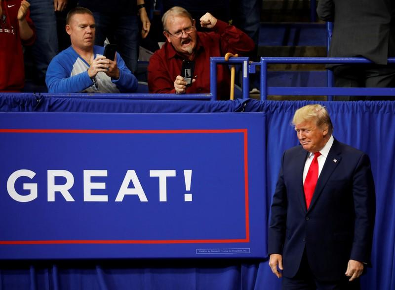 FILE PHOTO: President Donald Trump holds a campaign rally in Lexington, Kentucky