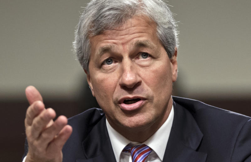 JP Morgan CEO Jamie Dimon. JP Morgan will report quarterly results before the market open on Friday,  (AP Photo/J. Scott Applewhite)