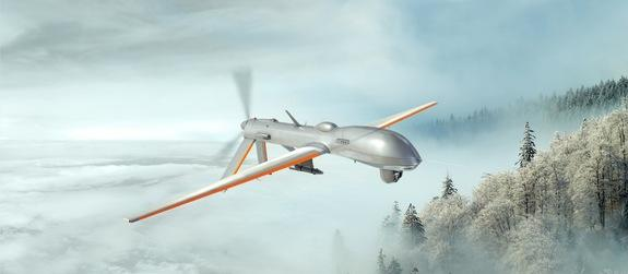 Rendering of Battelle's HeatCoat, a nano-thin coating for continuous de-icing of unmanned autonomous vehicles and manned military aircraft.