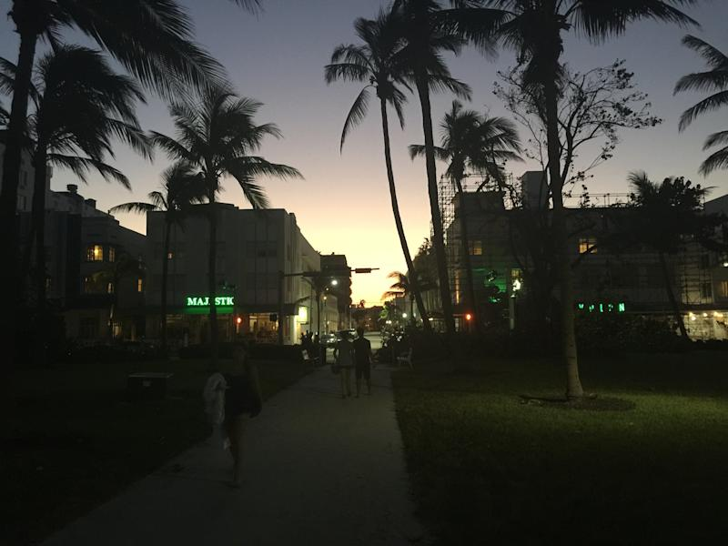 The city of Miami Beach ordered residents to evacuate the barrier island before Hurricane Irma hit Florida over the weekend. But just days after the storm, residents had returned to the beachside boardwalk in South Beach -- bringing with them a renewed sense of normalcy. (Travis Waldron/HuffPost)