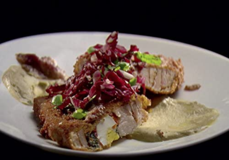 """<p>Due to the mystery ingredients used on the show, contestants have to tell producers if there are any foods they <a href=""""https://jscasting.com/chopped-official-application/"""" rel=""""nofollow noopener"""" target=""""_blank"""" data-ylk=""""slk:can't eat when they apply"""" class=""""link rapid-noclick-resp""""><em>can't</em> eat when they apply</a>.</p>"""