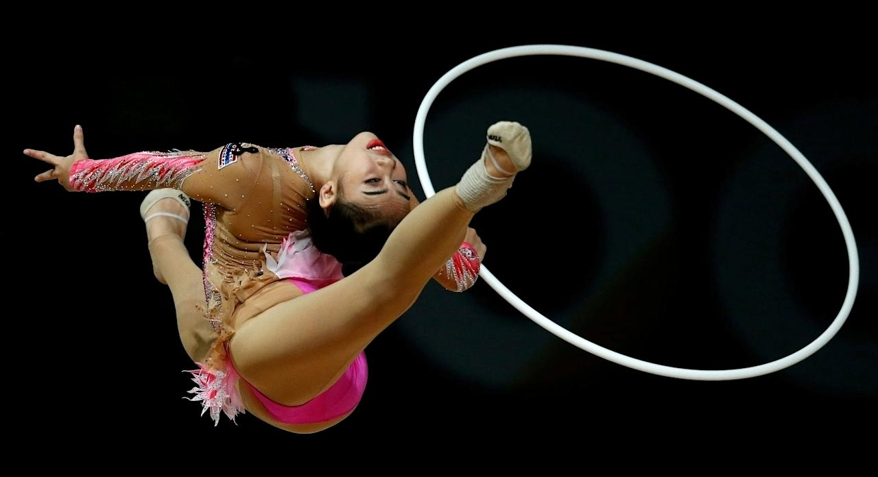 Southeast Asian (SEA) Games - Gymnastics - Rhythmic - Individual All-Around Final - MITEC, Kuala Lumpur, Malaysia - August 27, 2017 - Pornchanit Junthabud of Thailand competes. REUTERS/Lai Seng Sin     TPX IMAGES OF THE DAY