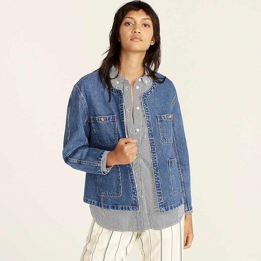 """<br><br><strong>J. Crew</strong> Simone relaxed denim jacket, $, available at <a href=""""https://go.skimresources.com/?id=30283X879131&url=https%3A%2F%2Fwww.jcrew.com%2Fp%2Fwomens%2Fcategories%2Fclothing%2Fcoats-and-jackets%2Fdenim-jacket%2Fsimone-relaxed-denim-jacket%2FBA159"""" rel=""""nofollow noopener"""" target=""""_blank"""" data-ylk=""""slk:J. Crew"""" class=""""link rapid-noclick-resp"""">J. Crew</a>"""