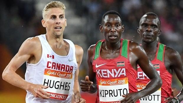 Steeplechase runner Matt Hughes, left, who returned to Canada on March 30 from an altitude training camp in Flagstaff, Ariz., is self-isolating in his Toronto apartment after testing positive for coronavirus on Jan. 11.  (Saeed Khan/AFP via Getty Images/File - image credit)