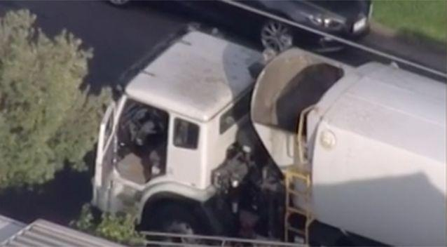 A garbage collector found the body on Saturday morning. Photo: 7 News